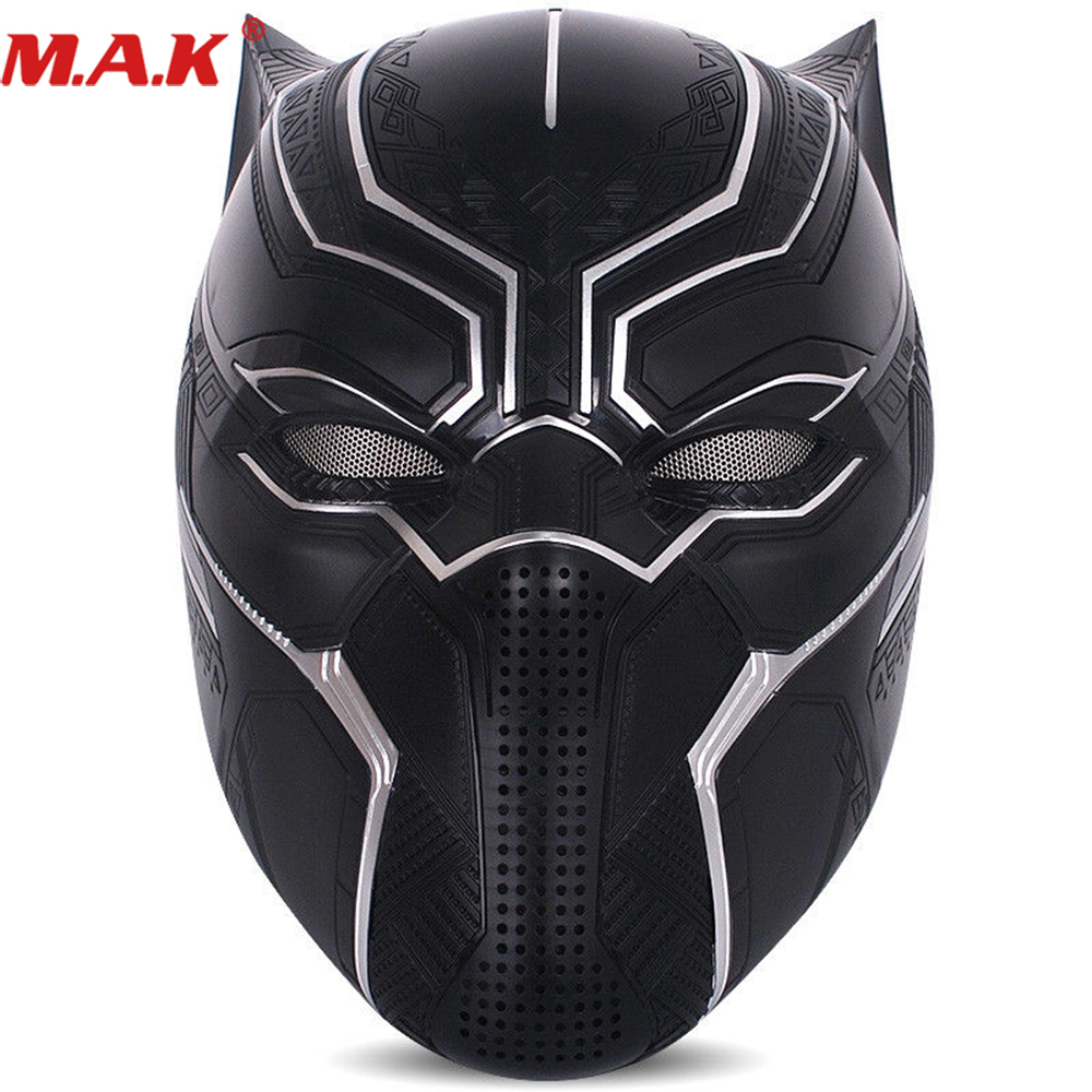 1/1 Scale Wearable Black Panther Cosplay Helmet Killerbody C008 Captain America 1:1 Scale Wearable Black Panther Cosplay captain america civil war black panther helmet 1 1 scale hallowmas party cosplay helmet black panther pvc action figure kids toy