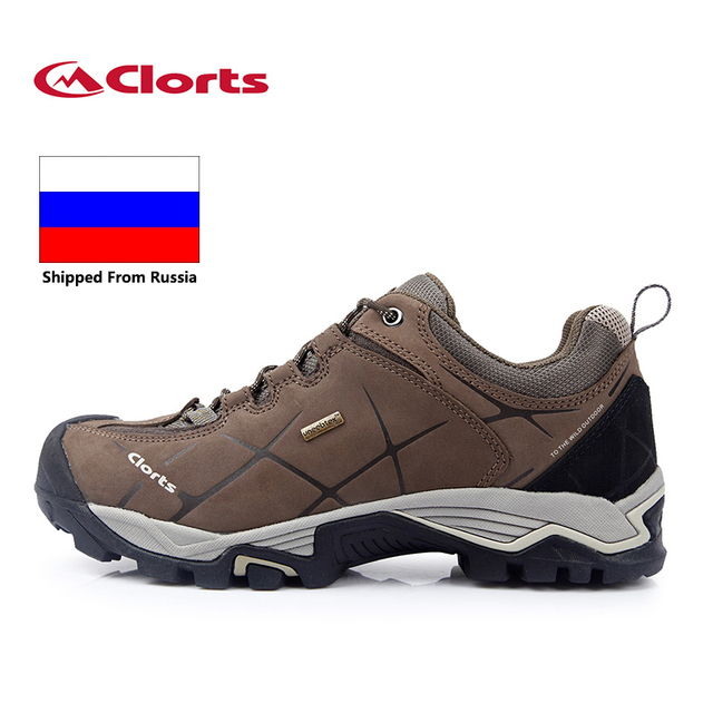 5406f71c566 US $51.83 36% OFF|Russian Local Delivery Clorts Hiking Shoes Men Outdoor  Hiking Boots Waterproof Trekking Shoes Breathable Climbing Shoes-in Hiking  ...