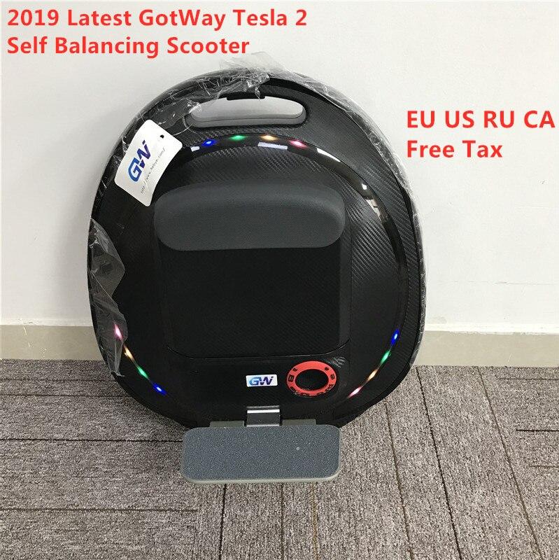 """2019 dernière GotWay Tesla 2 auto équilibrage Scooter 2000W moteur 84V 1020WH 16 """"pneu 100km kilométrage monocycle planche à roulettes électrique"""