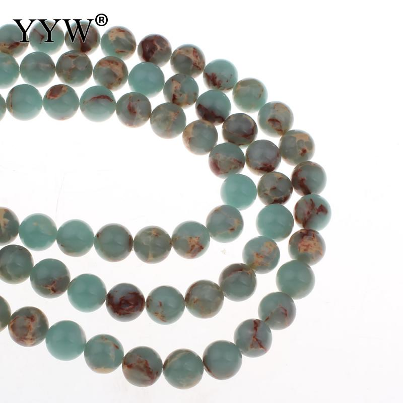 Wholesale Natural Aqua Terra Stone Beads For Jewelry Making DIY Bracelet Necklace Sold Per Approx 15 Inch Strand