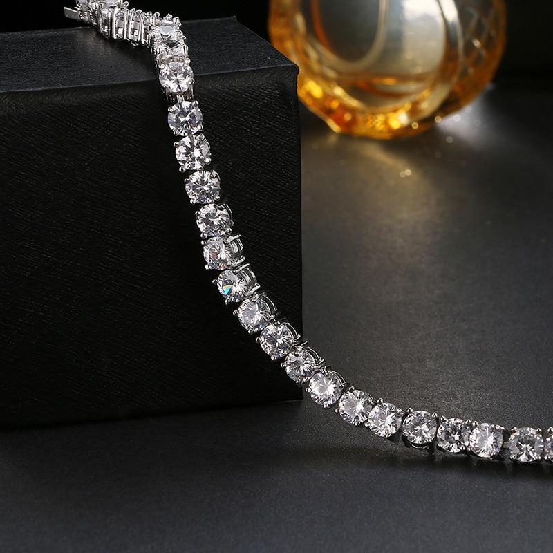 Emmaya Wedding Bracelet Zircon Jewelry Alta calidad AAA Round 0.5 - Bisutería - foto 2