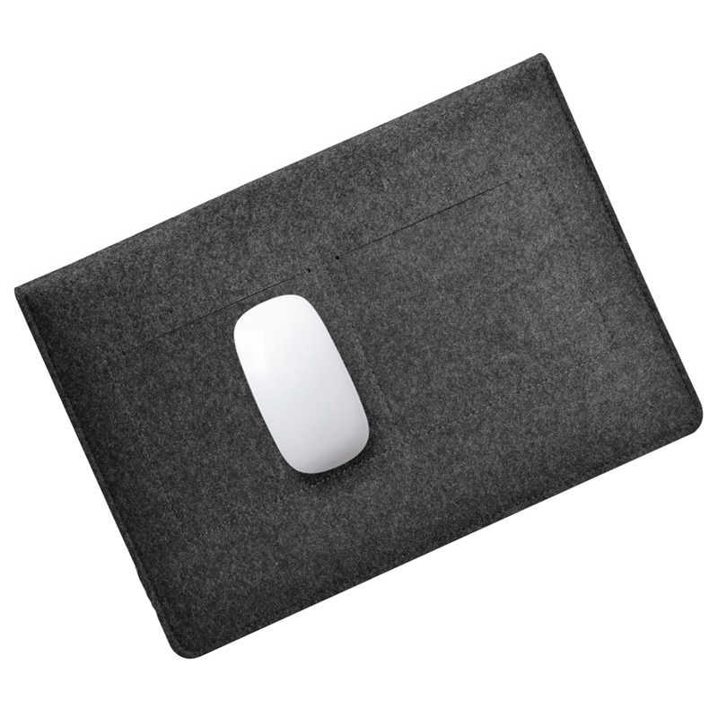 Para Macbook Pro Retina 11 13 15 funda de lana de fieltro funda delgada para portátil bolsa para Xiaomi 12,5 de aire 13,3 15,6 superficie funda de 13,5 para ordenador portátil