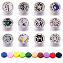 Boom Life Aromatherapy 18mm Snap Buttons Perfume Locket Magnetic Stainless Steel Essential Oil Diffuser Jewelry