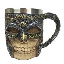 c3a7fddcfa8059 1 pièce Viking Chope Crâne Guerrier Frappant Chope de bière Celtique  Médiévale Crâne En Acier Inoxydable Os Chope Tasse