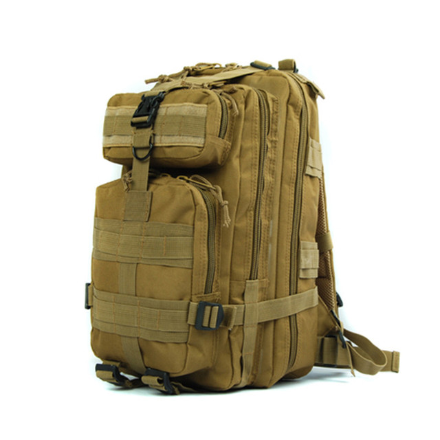 600d Molle 3 Pocket Hydration Assault Bag Tactical Backpack Expandable Military Sport Camping Hiking Trekking