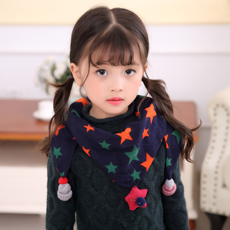 Brand All-match Children Girls Boy's SAcarf hijab Triangular Cotton   scarf   hanging drop Basic Winter   Scarves     Wraps   neckerchief