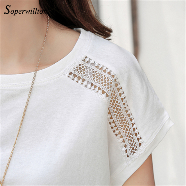 Cotton Summer Blouses Lace Batwing Sleeve Shirts For Womens Tops Shirts Plus Size Women Clothing Korean 2018 Blusas Female #B65 4