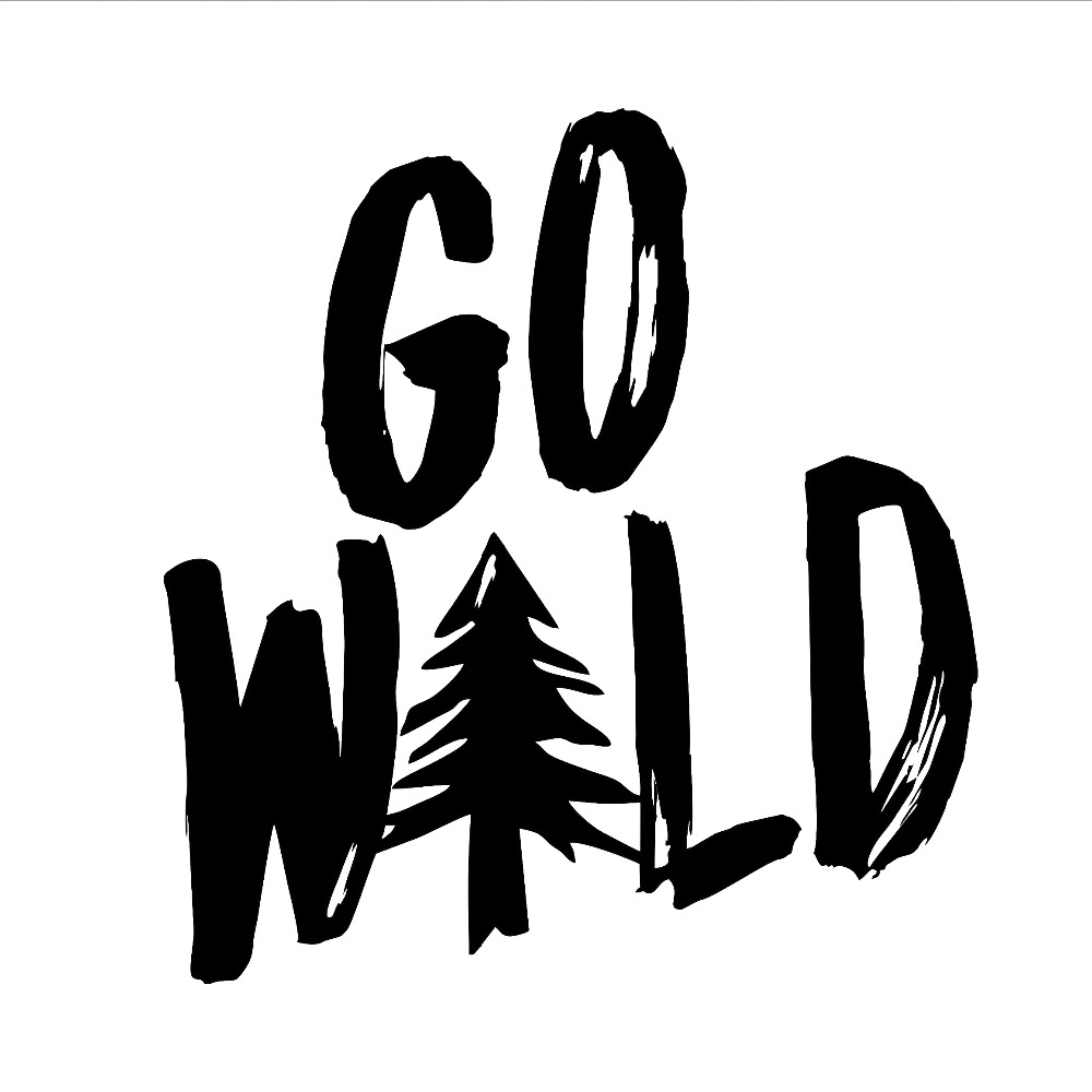 Go Wild Text Nature Vinyl Car Decal Hiking Car Decals Window Adventure Bumper Car Sticker Removable L599