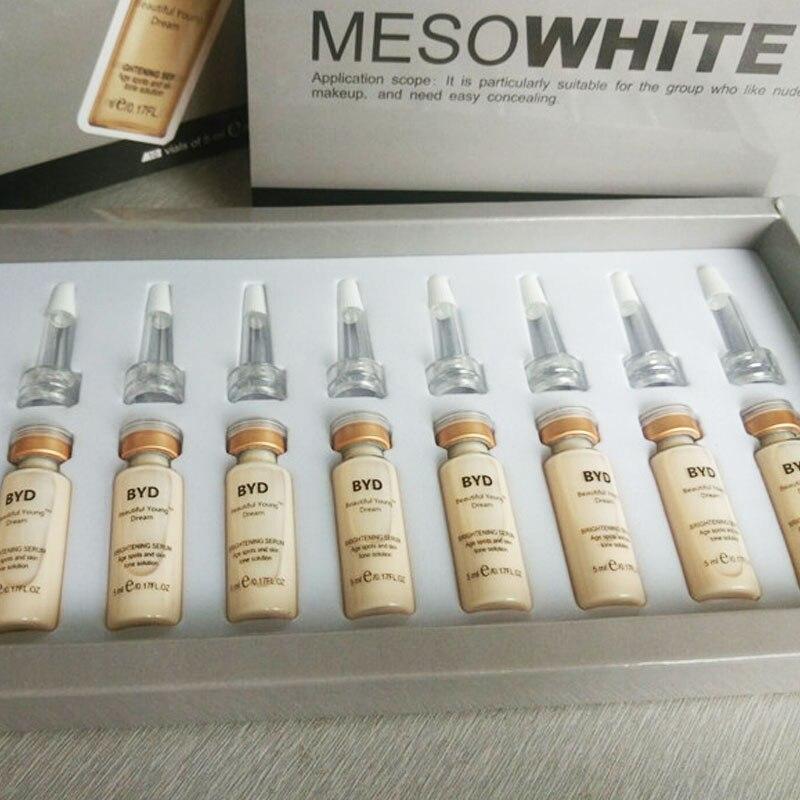 10pcs/set 5ml BB Glow Skin Cream Meso White Brightening Serum Natural Nude Concealer Make Up Foundation