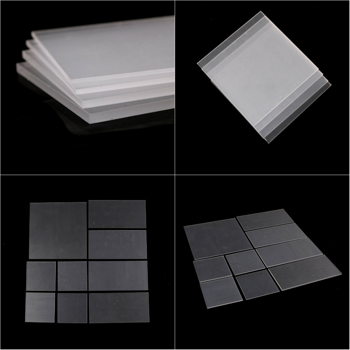 1pc 2-5mm thickness Clear Acrylic Perspex Sheet Cut Plastic Transparent Board Perspex Panel