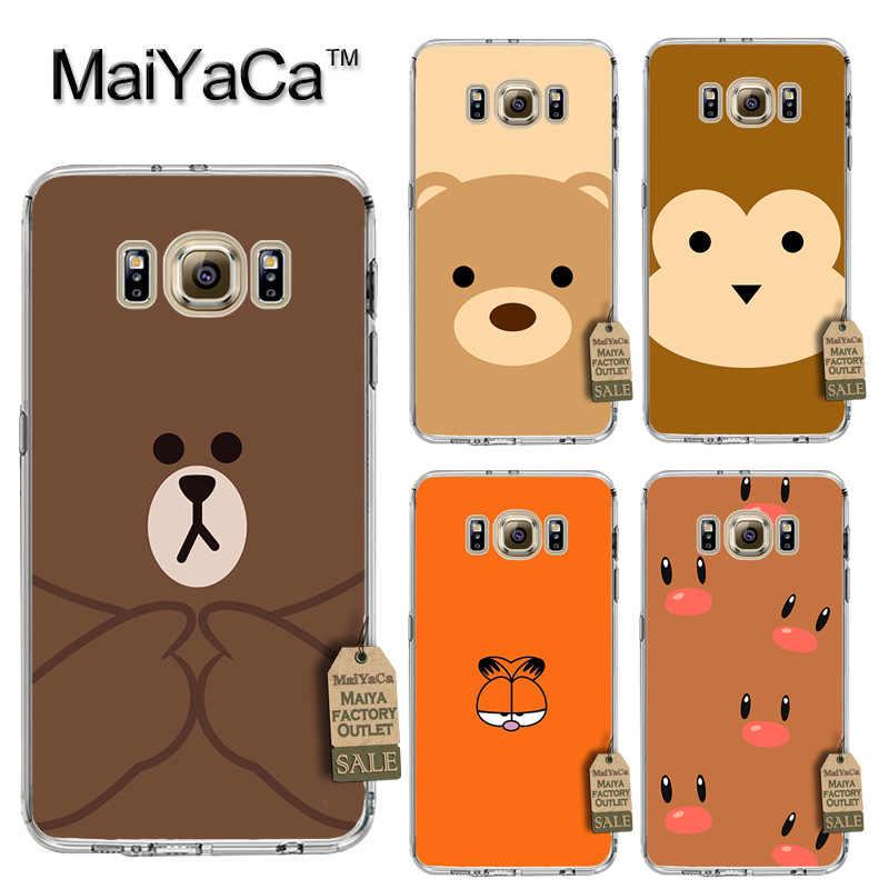 MaiYaCa oso es expresión de lujo PC teléfono duro caso para cubrir Samsung gaxlay s4 s5 s6 s7 s8 caso