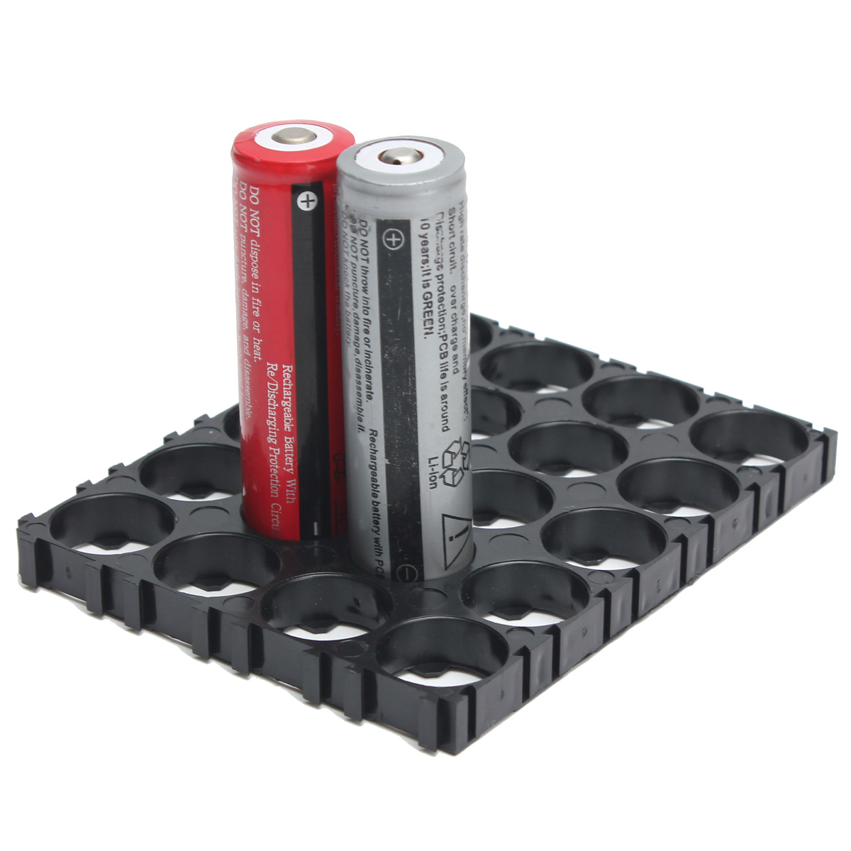 High quality 18650 battery holder bracket ABS material anti vibration Cylindrical Battery Spacers Holder for 20x 18650 batteries
