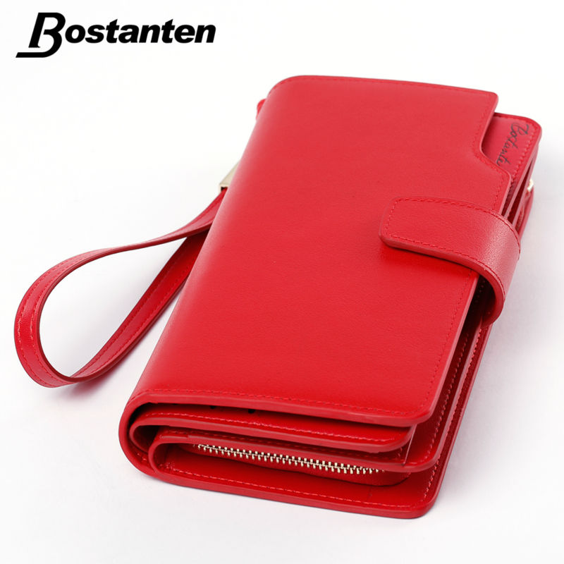Bostanten Real Genuine Leather Women Wallets Brand Design