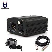 Ituf Professional 48V DC Phantom Power Supply Genuine Professional For Studio Recording Condenser Microphone Computer EU Plug