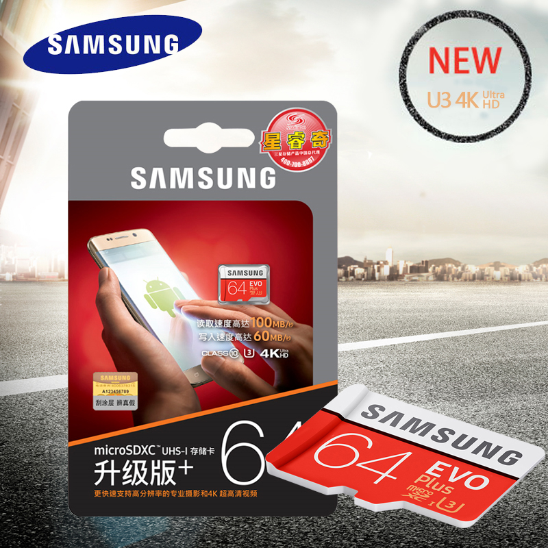 SAMSUNG Scheda di Memoria MicroSDXC 64 gb Class10 SDXC UHS-I Schede SD Trans Microsd Cartao de Memoria Tarjeta SDTF Carta Per smartphone