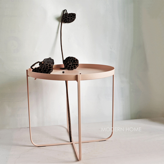 Modern Design Loft Style Popular Minimalist Simple Metal Tray Side Table,  Living Room Fashion Furniture