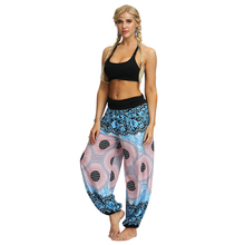 New Women Harem Pants Boho Chic Sarouel High Waist Loose Vacation Beach Wear Trousers Female Summer Pop Print Hippie Pants chic women s leopard print loose exumas pants
