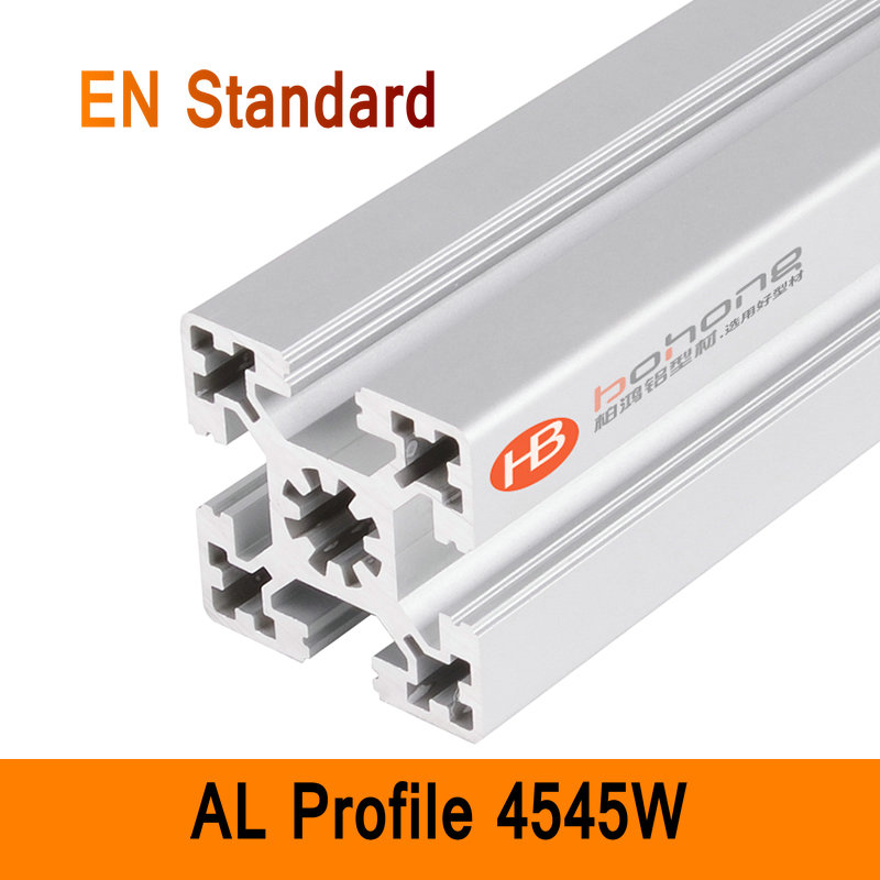 4545W Aluminium Profile EN Standard DIY Brackets Aluminium AL Extrusion Style CNC 3D DIY Printer Parts T-slot Aluminum Pipe aluminium cnc machining rapid prototyping aluminum parts processing page 5
