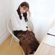 Черное офисное автомобильное электрическое утепленное одеяло
