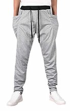 Abetteric Mens Casual Cargo Pocket Tapered Stripe Casual Pants