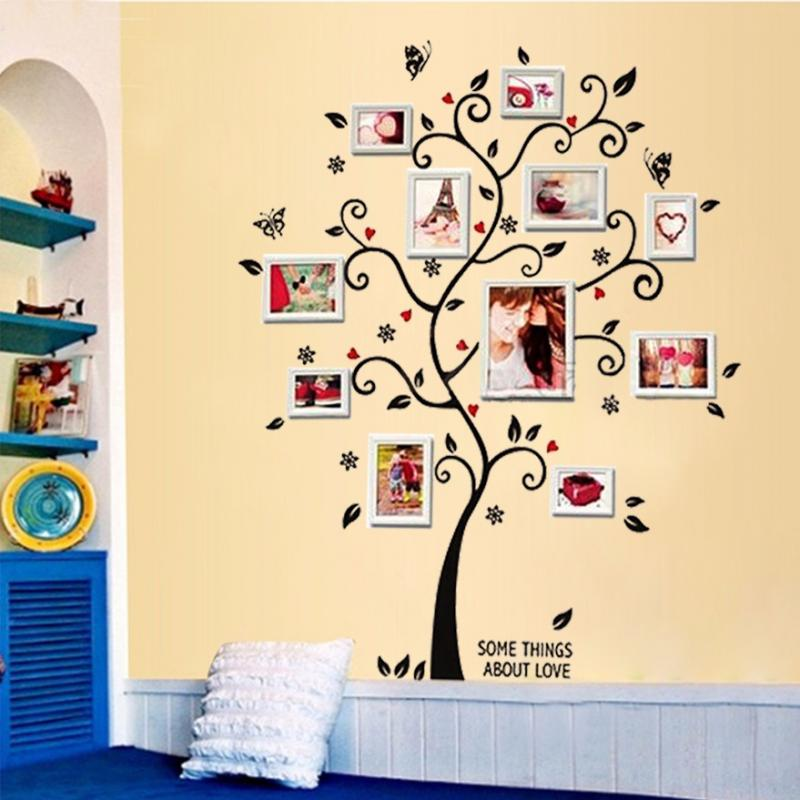 photos family tree wall stickers quotes living room decorations 6013 ...