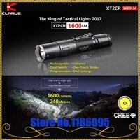 2017 KLARUS XT2CR CREE XHP35 HD E4 LED Flashlight 1600 lumens Compact Super bright Dual switch Rechargeable Tactical Flashlight