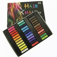 HARMONY 1 SET 36 Colors Square Hair Dye Color Chalk Non Toxic Temporary Pastel Hair Color