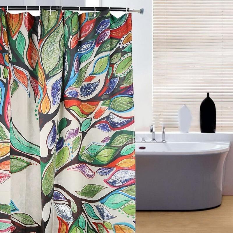 Design Fabric Bathroom Curtain Decor Crazy Lynx Colorful Shower ...