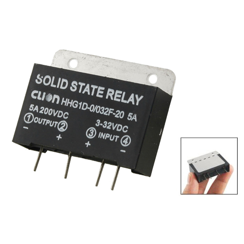 DSHA New Hot Heat Sink Input 3-32V DC Output 5A 200V DC PCB Mount SSR Solid State Relay wsfs wholesale 2 x heat sink input 3 32v dc output 5a 200v dc pcb mount ssr solid state relay