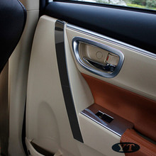 цена на Armrest trim The inner door handle trim sequins for Toyota Corolla 2014,stainless steel ,auto accessories