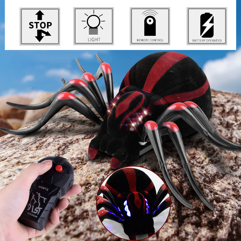 Remote Control Plastic Infrared Spider Prank Insects Joke Scary Toys Huge Funny