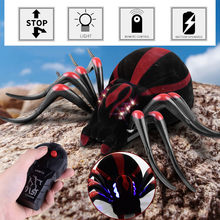 Remote Control Plastic Infrared Spider Prank Insects Joke Scary Toys Huge Funny(China)