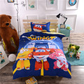 Children cartoon super wings bedding set without comforter 2/3pcs single/twin size Peter Pan home textile free shipping via CPAM