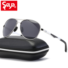 SAYLAYO Classic Men Polarized Sunglasses Brand Design Fishing Goggles Sun Glasses Vintage Gafas De Sol with Case