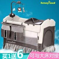 Honeyseed модная детская кровать, портативная игровая кровать bb, детская кровать, складная детская кровать, пояс, колесо