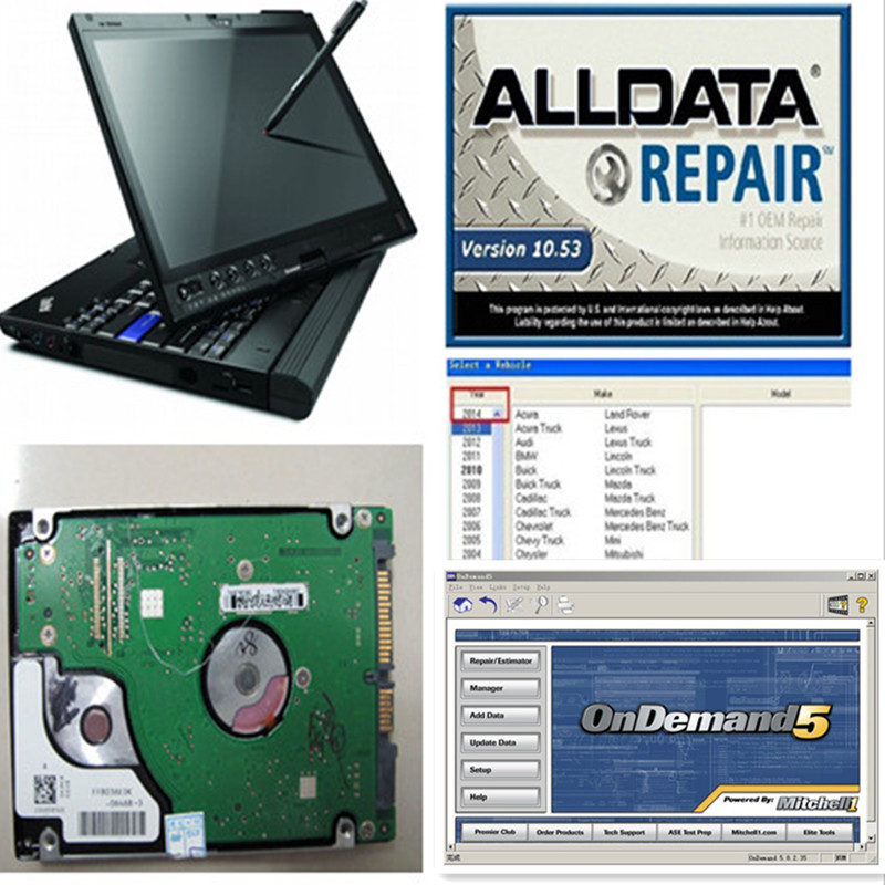 The Cheapest Price Laptop Auto Diagnostic Software Alldata 10.53 Mitchell Ondemand Repair Software Data For Asian/european/american Cars/trucks Software