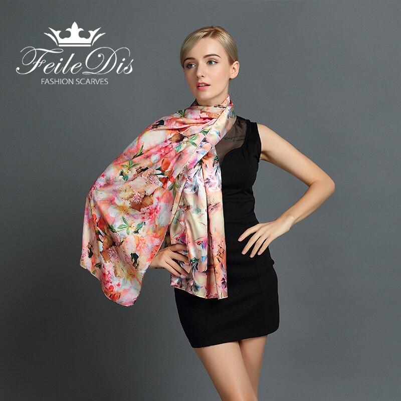 [FEILEDIS] 2019 hedvábná šála módní dámská šála víceúčelová šála oboustranná výměna použití šátek řady FD038