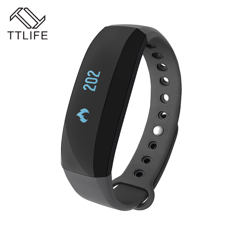 ФОТО TTLIFE New Smart Bracelet Fitness Tracker Heart Rate Monitor Smart Watch GPS Stop Watch Smart Wristband for iphone Android Phone