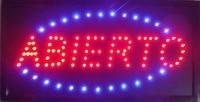 Direct selling fabricage open teken 10x19 Inch Semi-outdoor Ultra Heldere Abierto running electronica verlichte teken