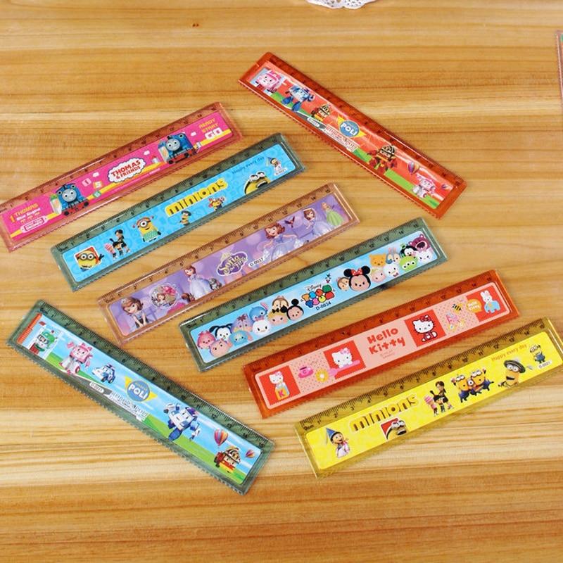 3pcs / lot Pupils stationery transparent ruler 15 cm plastic ruler ruler ruler learning tools