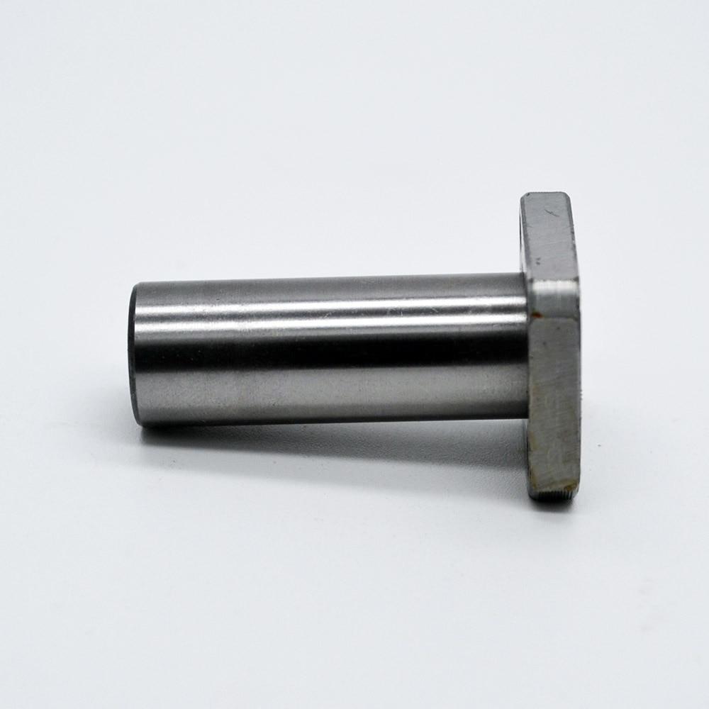 LMK12LUU 12 mm bearing square flange long linear ball bearing match use 12mm linear guide rail rod round shaft cnc bearing lmk50luu lengthening square flange linear bearings 50mm 80mm 192mm