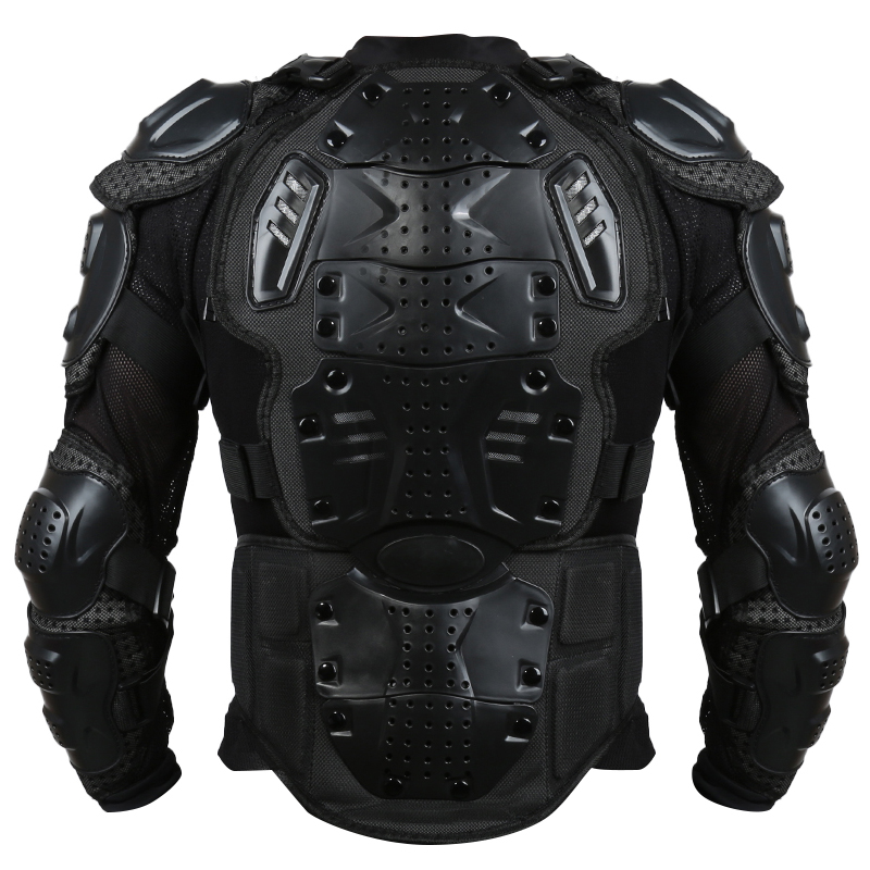 Liplasting Full Motorcycle Body Armor Shirt Jacket Motocross Back Shoulder Protector Gear S-XXXL Black Veste de moto XNC