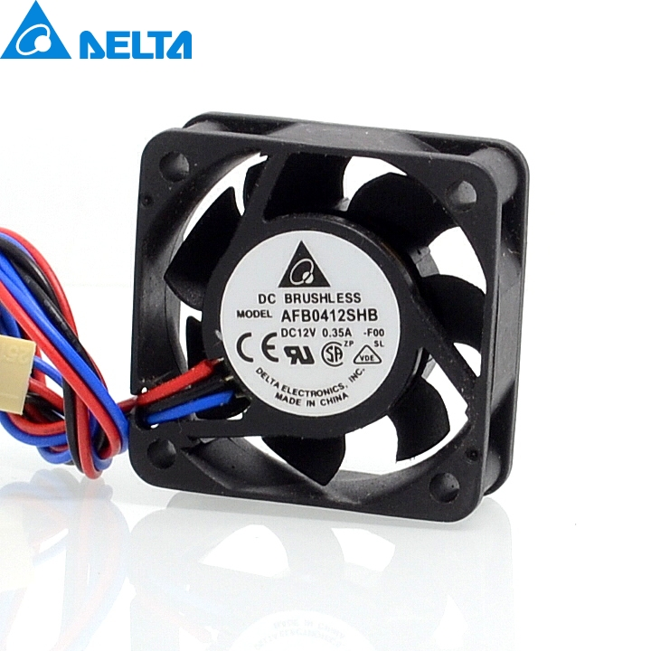 Delta 100 PCS/LOT  Free Shipping Original  AFB0412SHB 4015 4CM 40mm 12V 0.35A silent mini server axial cooling fan free shipping wholesale original delta delta afb0912uhe f00 9238 90mm 12v 3 0a server axial powerful cooling fans