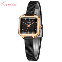 New Arrival Kimio Fashion Dress Square Dial   Women     Watches   Stainless Steel   Bracelet   Quartz Clock Waterproof Female Wristwatches