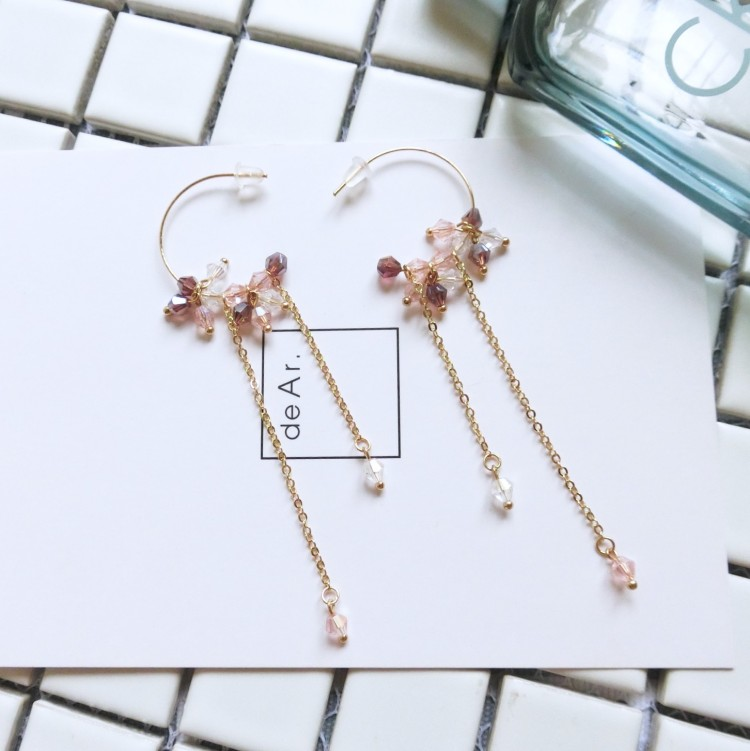 2018 fashion crystal earrings delicate rhinestone ear women Girls Fashion Wedding