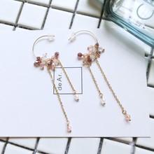 2018 fashion crystal earrings delicate rhinestone ear women Girls Fashion Wedding