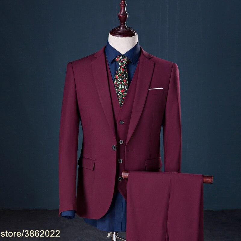 На заказ мужские костюмы Свадебные Жених комплект из 3 предметов (куртка + жилет + штаны) смокинг костюм мужской большие размеры 6XL 7XL 8XL 9XL 10XL 7XL