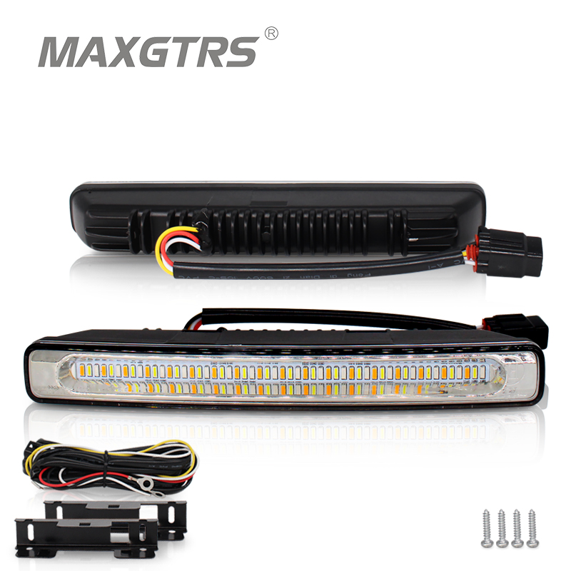 2x Universal Car LED 48 SMD 4014 Daytime Running Light Waterproof DRL Auto Driving External Light