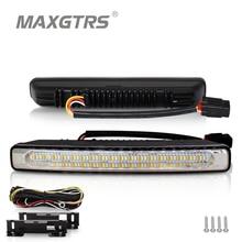 2x Universal Araç LED 48 SMD 4014 Gündüz Çalışan Işık su geçirmez DRL Oto Sürüş Harici Işık Beyaz Mavi Amber Açın sinyal