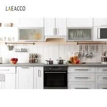 Laeacco Modern Kitchen Cabinet Interior Decor Photography Background Customized Photographic Backdrops For Photo Studio